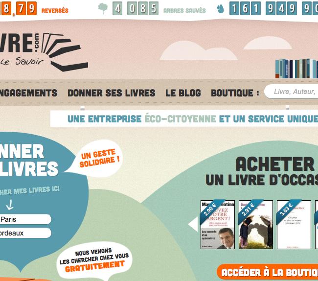 Capture d'écran page accueil site
